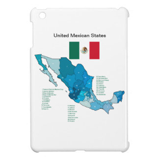 Flag and Map of Mexico iPad Mini Cases