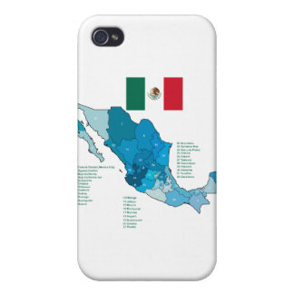 Flag and Map of Mexico iPhone 4 Case