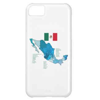 Flag and Map of Mexico iPhone 5C Case
