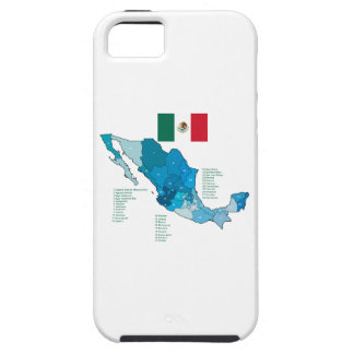 Flag and Map of Mexico iPhone SE/5/5s Case