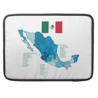 Flag and Map of Mexico MacBook Pro Sleeves