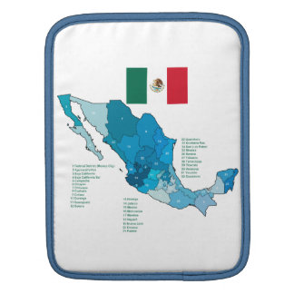 Flag and Map of Mexico Sleeve For iPads