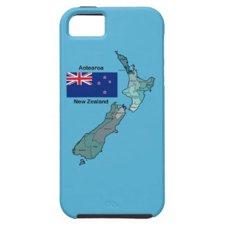 Flag and Map of New Zealand iPhone SE/5/5s Case