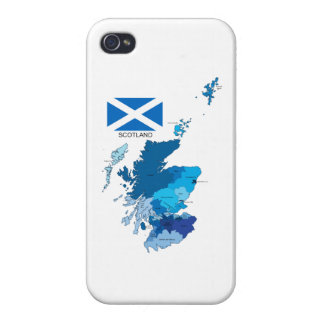 Flag and Map of Scotland Cover For iPhone 4