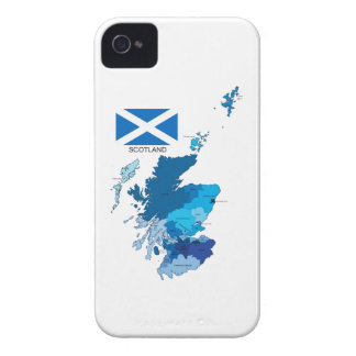 Flag and Map of Scotland iPhone 4 Case