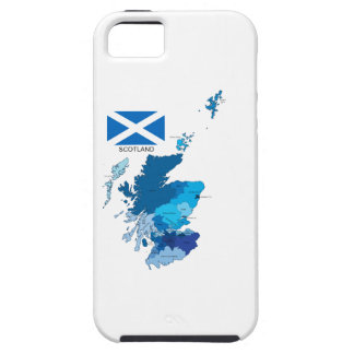 Flag and Map of Scotland iPhone SE/5/5s Case