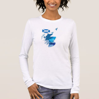 Flag and Map of Scotland Long Sleeve T-Shirt
