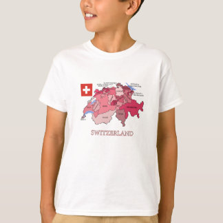 Flag and Map of Switzerland T-Shirt