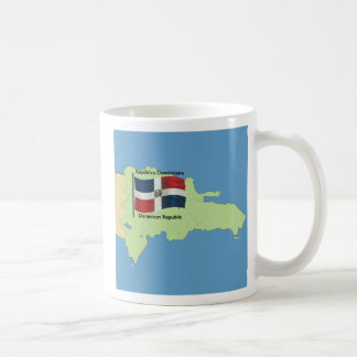 Flag and Map of the Dominican Republic Coffee Mug