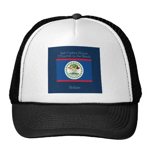 Flag and Motto of Belize Mesh Hat