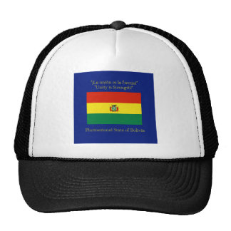Flag and Motto of Bolivia Trucker Hat