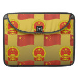 Flag and National Emblem of China Sleeves For MacBooks