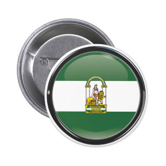 Flag and shield of Andalusia Pinback Button