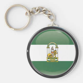 Flag and shield of Andalusia Keychain