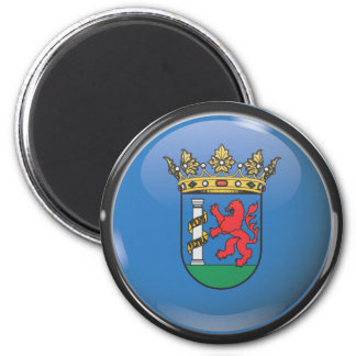 Flag and shield of Badajoz Magnet