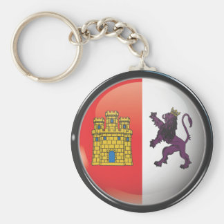 Flag and shield of Cáceres Keychain