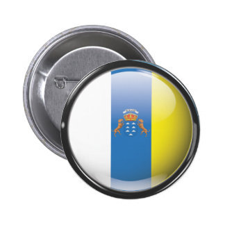 Flag and shield of Canary Islands Button
