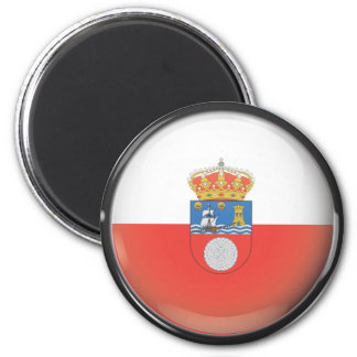 Flag and shield of Cantabria 2 Inch Round Magnet