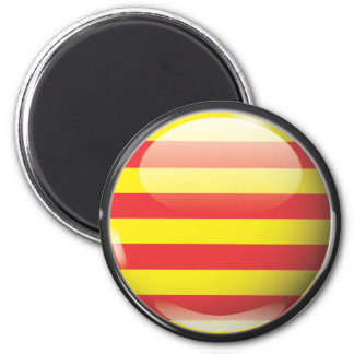 Flag and shield of Catalonia 2 Inch Round Magnet