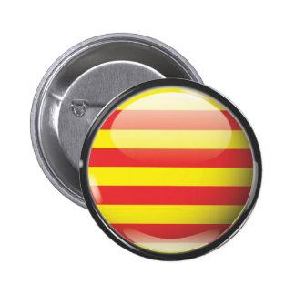 Flag and shield of Catalonia Pin