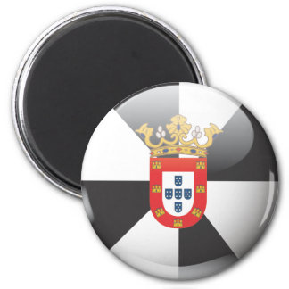 Flag and shield of Ceuta 2 Inch Round Magnet