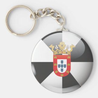 Flag and shield of Ceuta Keychain