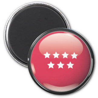 Flag and shield of Community of Madrid 2 Inch Round Magnet