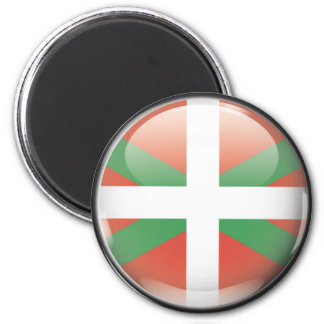 Flag and shield of Euskadi 2 Inch Round Magnet