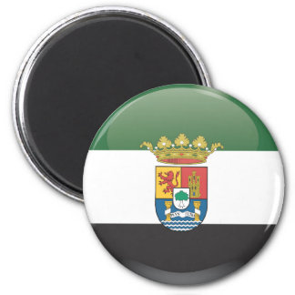 Flag and shield of Extremadura 2 Inch Round Magnet