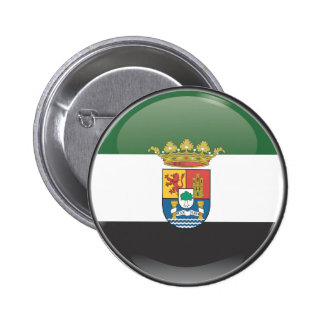 Flag and shield of Extremadura Pins