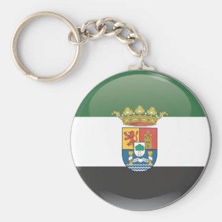 Flag and shield of Extremadura Keychain