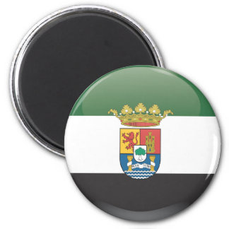 Flag and shield of Extremadura Magnet