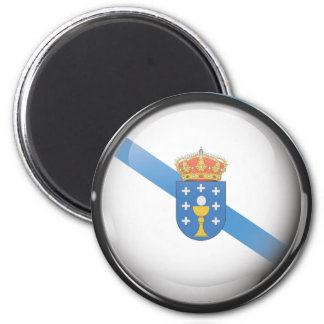 Flag and shield of Galicia 2 Inch Round Magnet