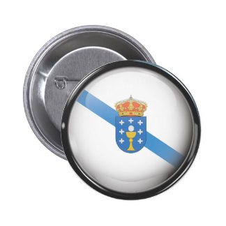 Flag and shield of Galicia Button