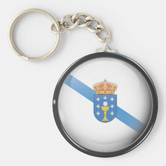 Flag and shield of Galicia Keychain
