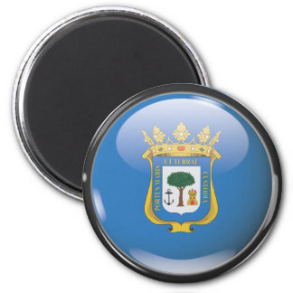 Flag and shield of Huelva Magnet