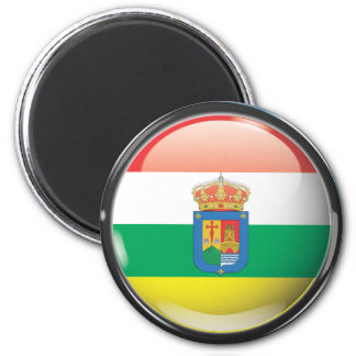 Flag and shield of La Rioja 2 Inch Round Magnet