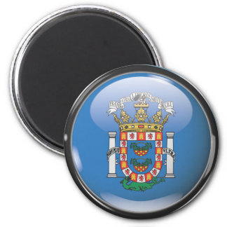 Flag and shield of Melilla 2 Inch Round Magnet