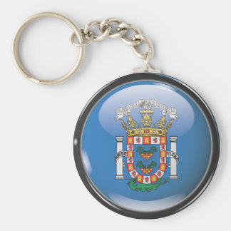 Flag and shield of Melilla Keychain