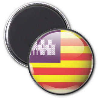 Flag and shield of the Balearic Islands 2 Inch Round Magnet