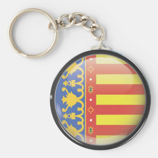 Flag and shield of Valencia Keychain
