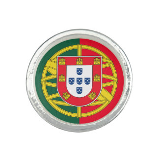 Flag and simbols of Portugal Photo Ring