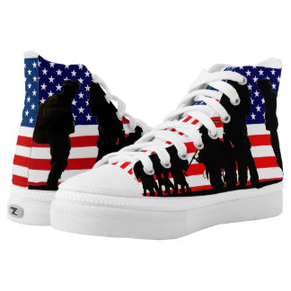 Flag and Soldiers Zipz High Top