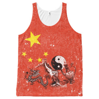 Flag and Symbols of China ID158 All-Over Print Tank Top