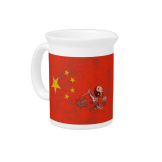 Flag and Symbols of China ID158 Beverage Pitcher