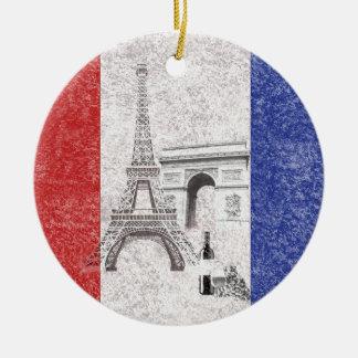 Flag and Symbols of France ID156 Ceramic Ornament