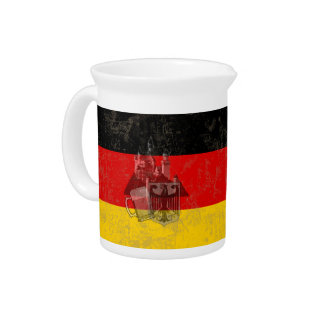 Flag and Symbols of Germany ID152 Beverage Pitcher