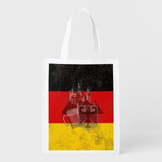 Flag and Symbols of Germany ID152 Grocery Bag