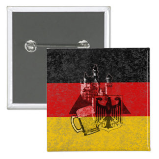 Flag and Symbols of Germany ID152 Pinback Button