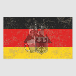 Flag and Symbols of Germany ID152 Rectangular Sticker